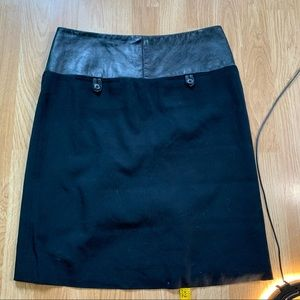 Alvin valley Black Leather Pencil skirt size S